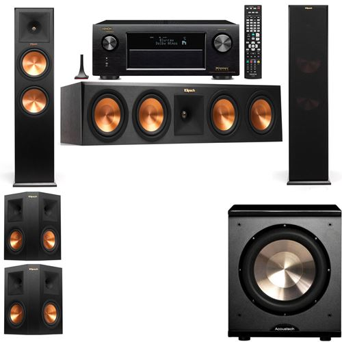 Klipsch RP-280F Tower Speakers-PL-200-5.1-Denon AVR-X3200W