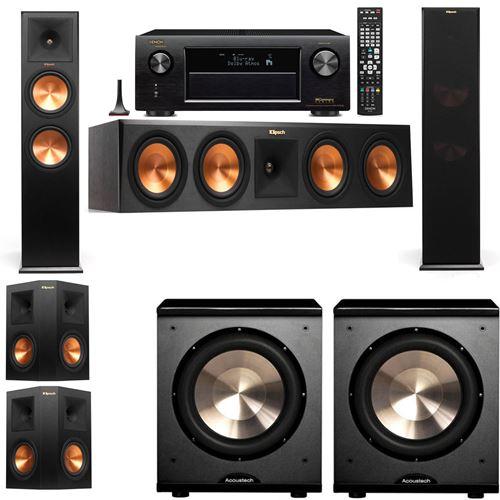 Klipsch RP-280F Tower Speakers-PL-200-5.2-Denon AVR-X3200W