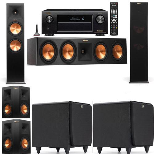 Klipsch RP-280F Tower Speakers-SDS12-5.2-Denon AVR-X3200W