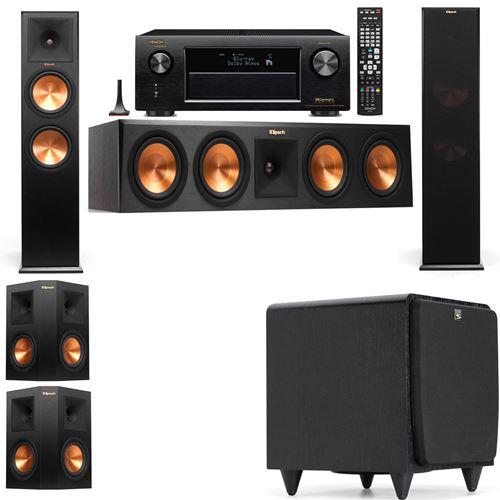 Klipsch RP-280F Tower Speakers-SDS12-5.1-Denon AVR-X3200W