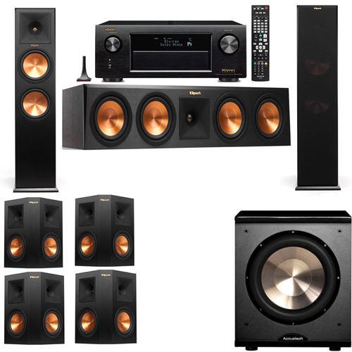 Klipsch RP-280F Tower Speakers-PL-200-7.1-Denon AVR-X3200W