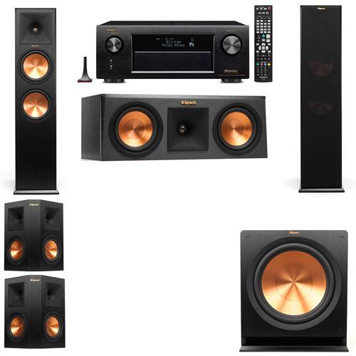 Klipsch RP-280F Tower Speakers-RP-250C-5.1-Denon AVR-X3200W