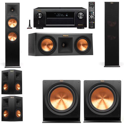 Klipsch RP-280F Tower Speakers-RP-250C-5.2-Denon AVR-X3200W