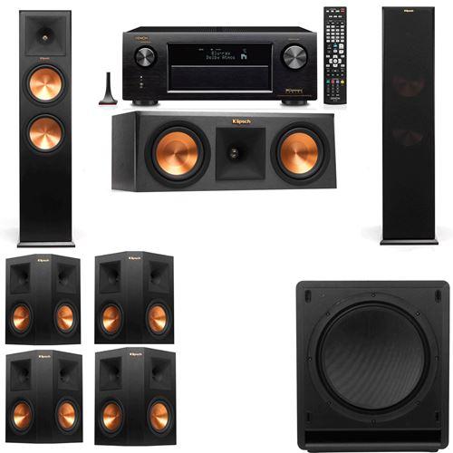 Klipsch RP-280F Tower Speakers-RP-250C-SW-112-7.1-Denon AVR-X3200W