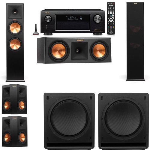 Klipsch RP-280F Tower Speakers-RP-250C-SW-112-5.2-Denon AVR-X3200W