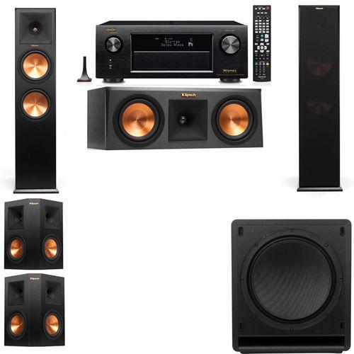 Klipsch RP-280F Tower Speakers-RP-250C-SW-112-5.1-Denon AVR-X3200W
