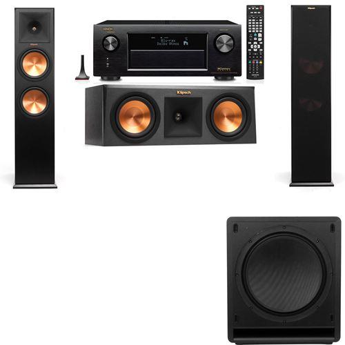 Klipsch RP-280F Tower Speakers-RP-250C-SW-112-3.1-Denon AVR-X3200W