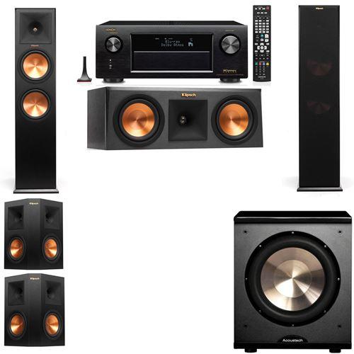 Klipsch RP-280F Tower Speakers-RP-250C-PL-200-5.1-Denon AVR-X3200W