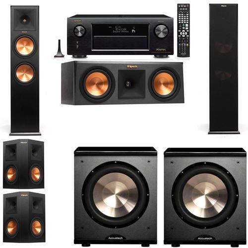 Klipsch RP-280F Tower Speakers-RP-250C-PL-200-5.2-Denon AVR-X3200W