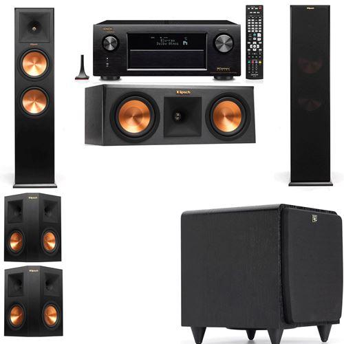 Klipsch RP-280F Tower Speakers-RP-250C-SDS12 -5.1-Denon AVR-X3200W