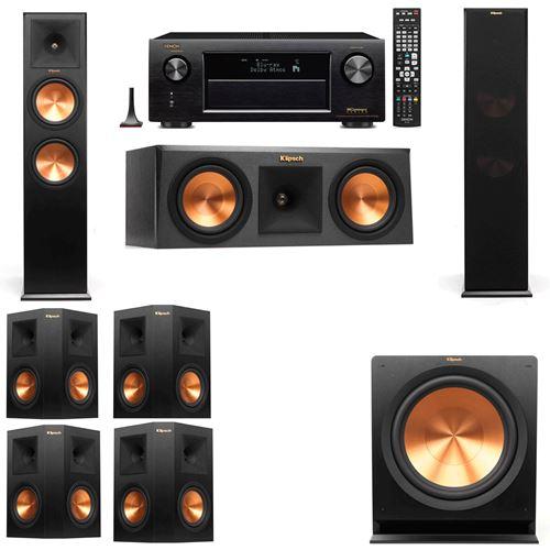 Klipsch RP-280F Tower Speakers-RP-250C-7.1-Denon AVR-X3200W