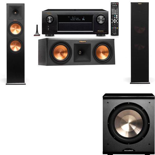 Klipsch RP-280F Tower Speakers-RP-250C-PL-200-3.1-Denon AVR-X3200W