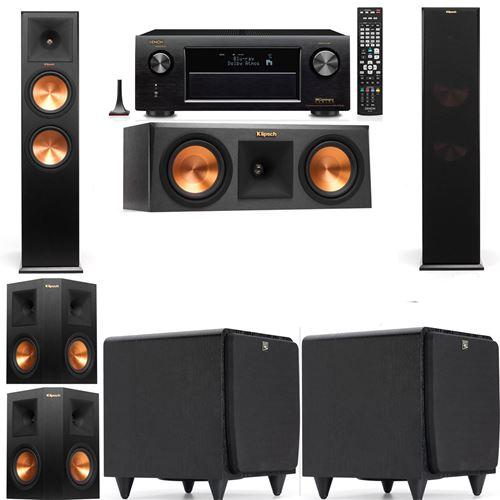 Klipsch RP-280F Tower Speakers-RP-250C-SDS12 -5.2-Denon AVR-X3200W