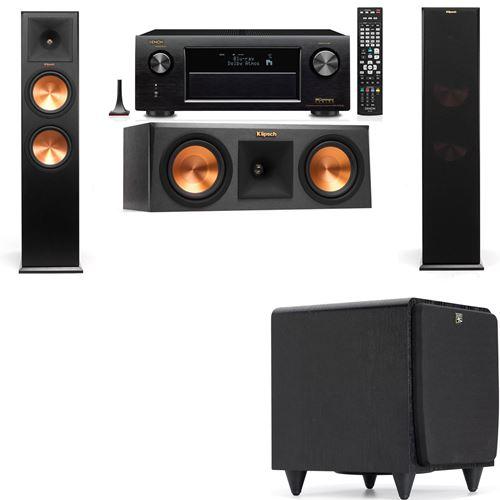 Klipsch RP-280F Tower Speakers-RP-250C-SDS12 -3.1-Denon AVR-X3200W
