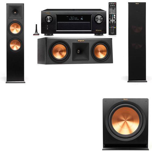 Klipsch RP-280F Tower Speakers-RP-250C-3.1-Denon AVR-X3200W