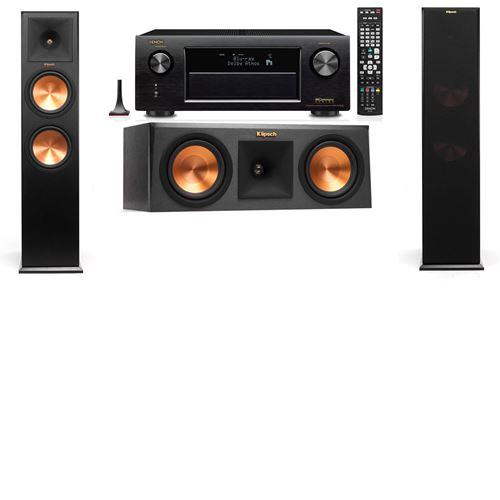 Klipsch RP-280F Tower Speakers-RP-250C-Denon AVR-X3200W