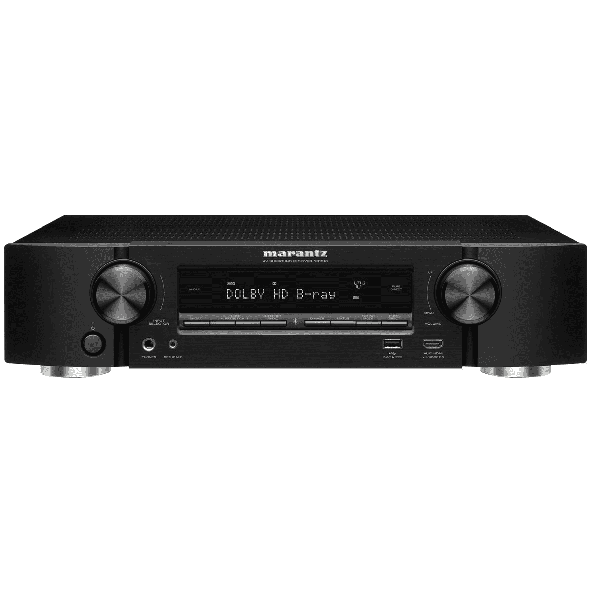 Marantz NR1510 Slim 5.2Ch 4K Ultra HD AV Receiver with HEOS Built-in